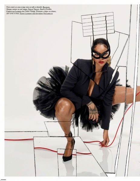 Rihanna becomes the ultimate supermodel for Vogue Paris December issue (photos)